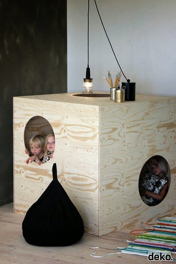 casa madera diy para cuarto infantil