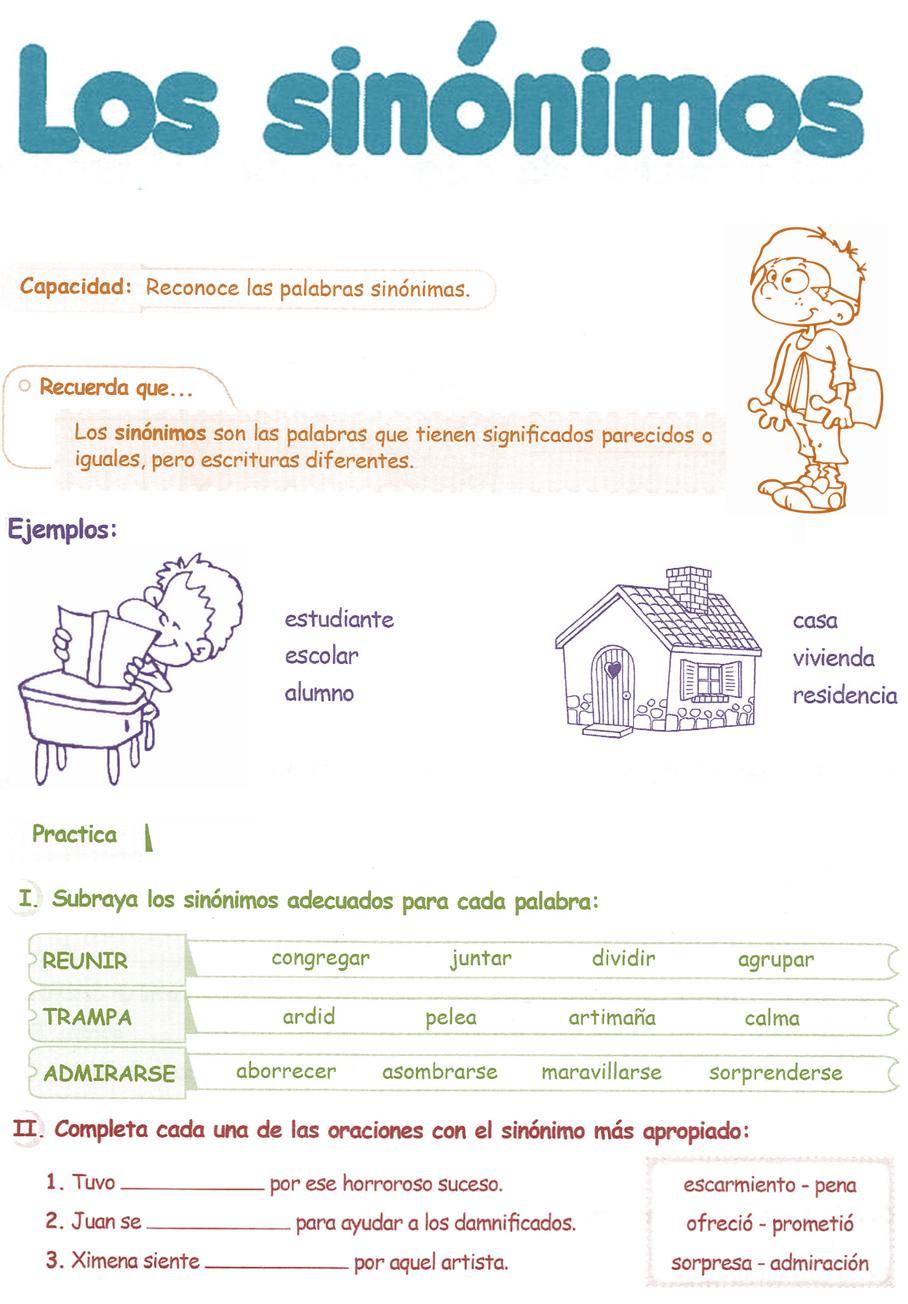 sinonimos definicion para niños imagenes sobre el valor de una mujer
