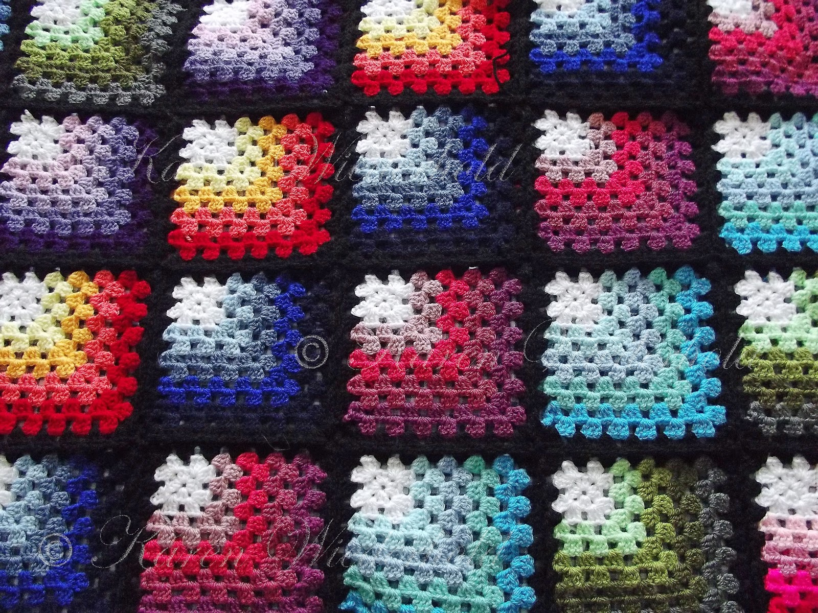 Crochet Patterns Squares : ... Granny Square Blanket - Free Crochet Pattern - Copyright 2013-2015