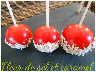 Sucettes de tomates cerises caramélisées au sésame