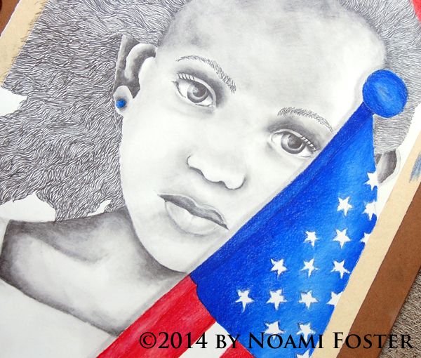 Finished Patriotic Girl for The True Colors Collection by Noami Foster
