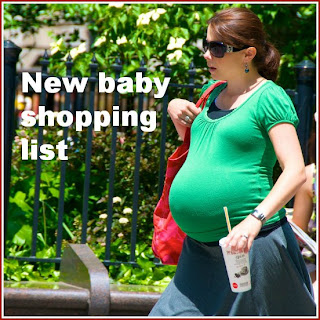 New baby shopping list