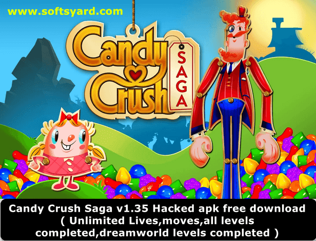 Candy Crush v1.35 Hacked Apk Free Download