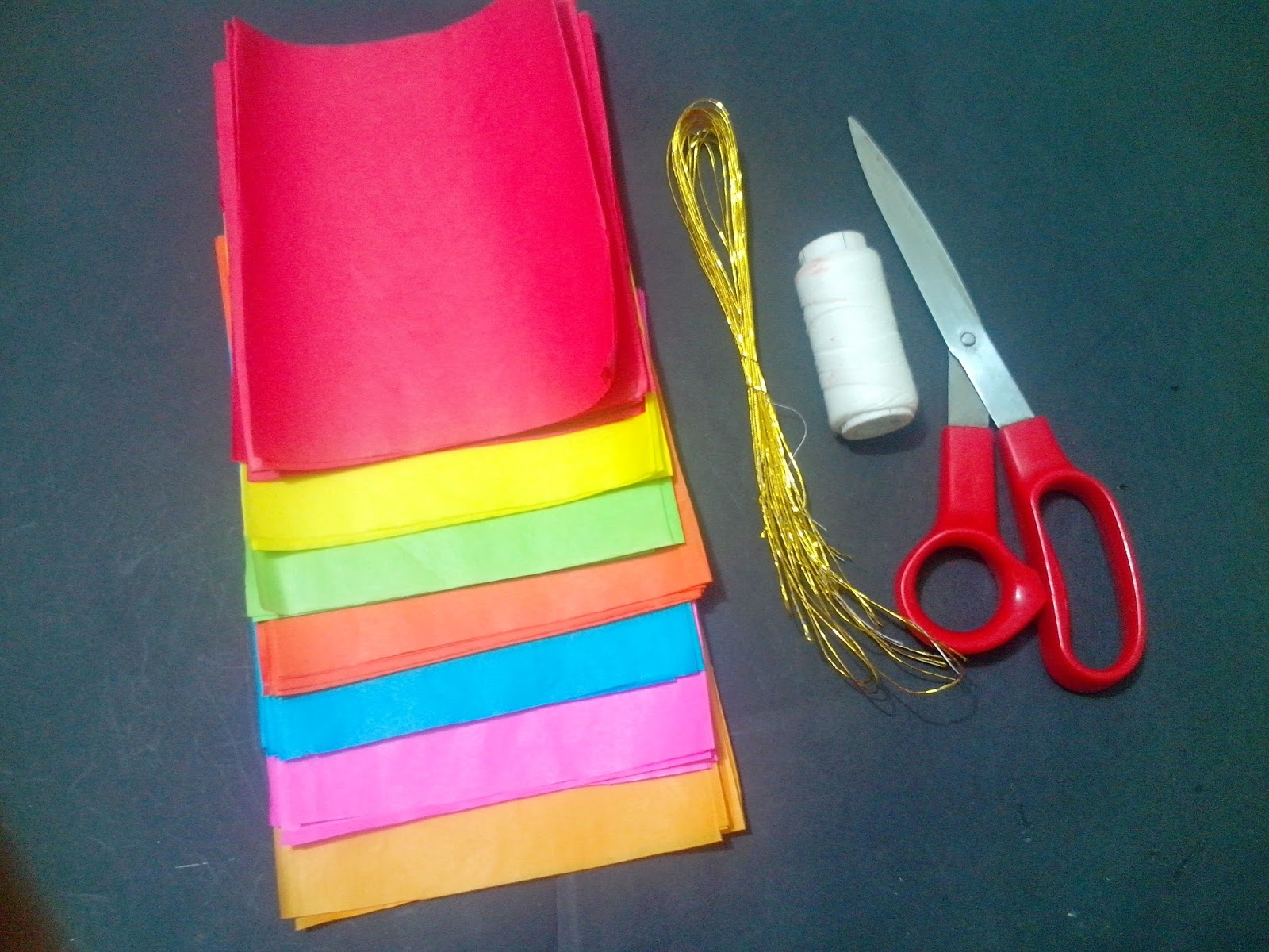The crafty world pankh arts pom pom tissuekite paper flowers step 1 mightylinksfo