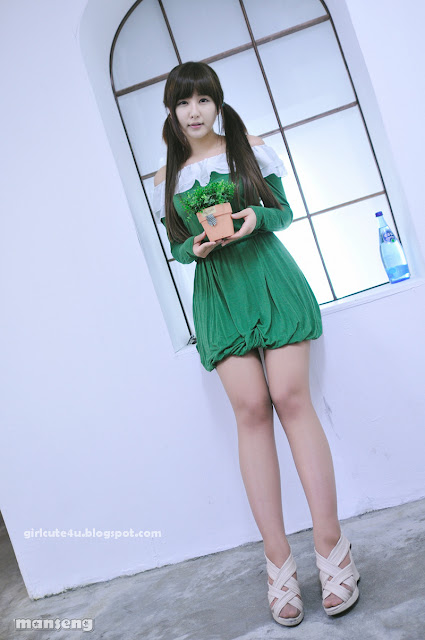 5 Ryu Ji Hye in Green-very cute asian girl-girlcute4u.blogspot.com