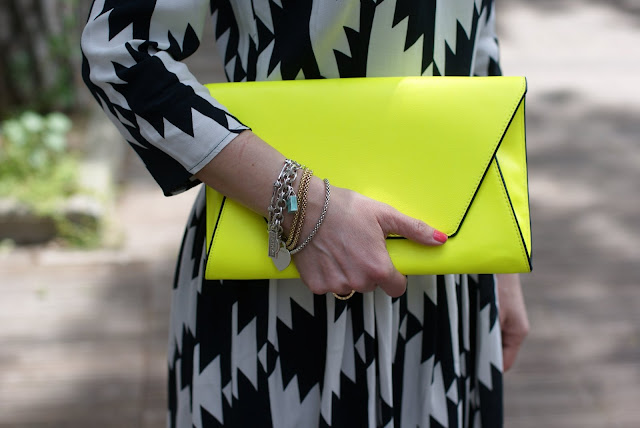 Zara neon yellow clutch, Fashion and Cookies
