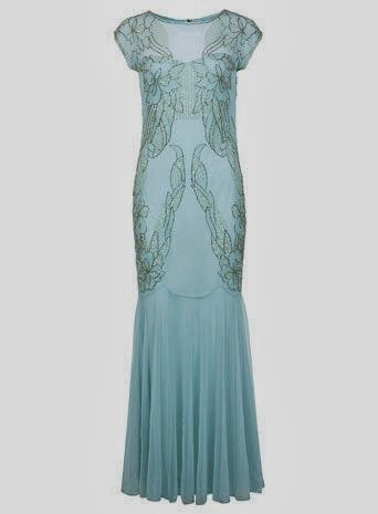 Embellished Monsoon Maxi Dress - Affordable Blue Wedding Dresses