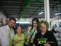 O momento... Bruno De Carvalho, Eu, esposa e Zé Valério