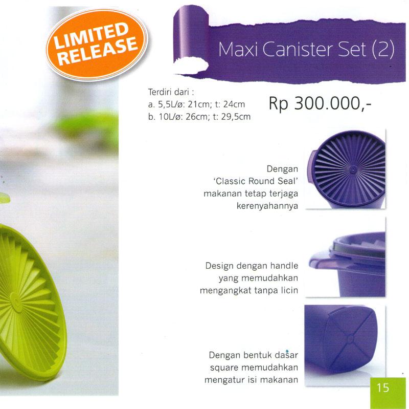 Katalog Tupperware Promo Juni 2013-Maxi Canister Set, tupperwareraya
