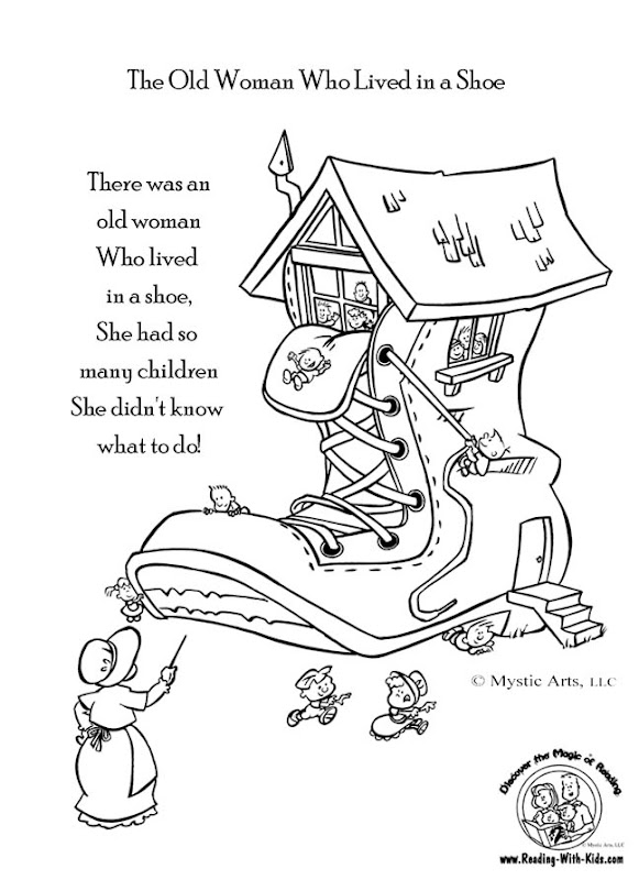 coloring pages for nursery rhymes