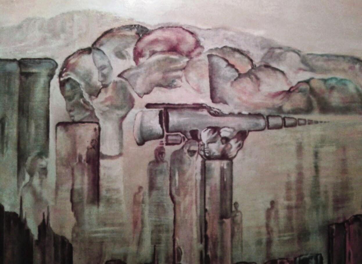 Surrealismo de pintora Rudi, cuadro del siglo XX