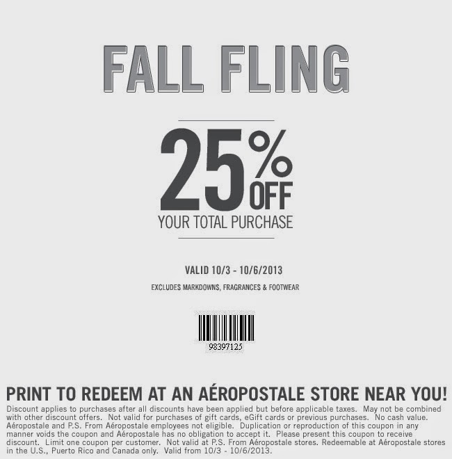 Aeropostale deals and coupons