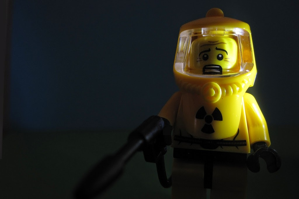 Lego Man In Nuclear Radiation Protection Suit. Attribution: [220365] Nuclear Fear (Explored) by Pascal