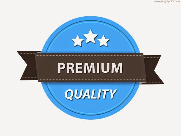 Premium Quality Badge Template PSD