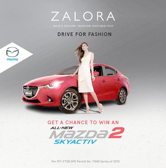 drive home a mazda 2 skyactiv r with zalora's drive for fashion