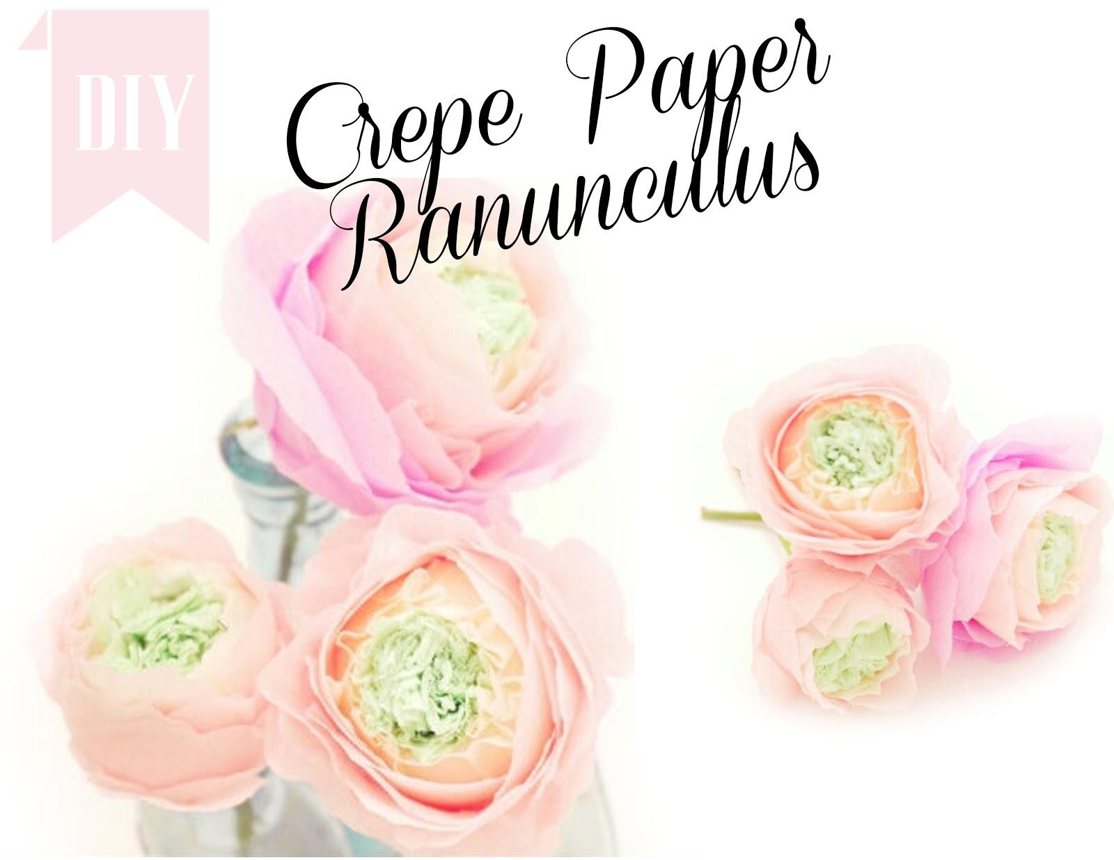 Crepe Paper Ranunculus Twigg Studios