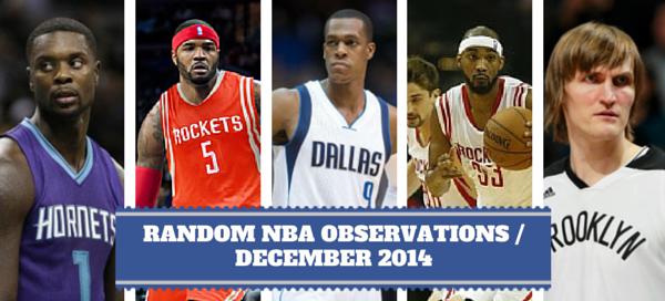 NBA Observations December 2014
