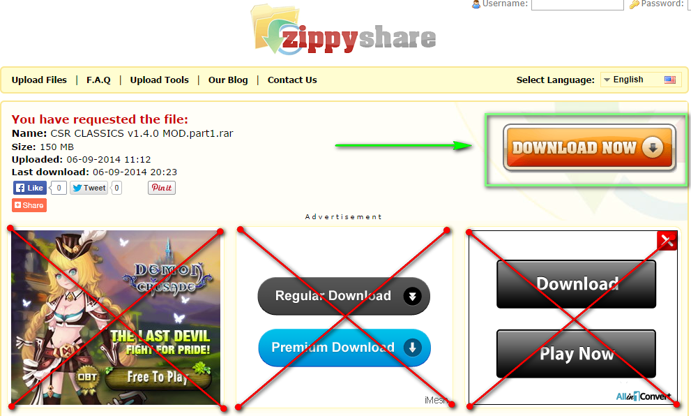 Cara Download di Zippyshare