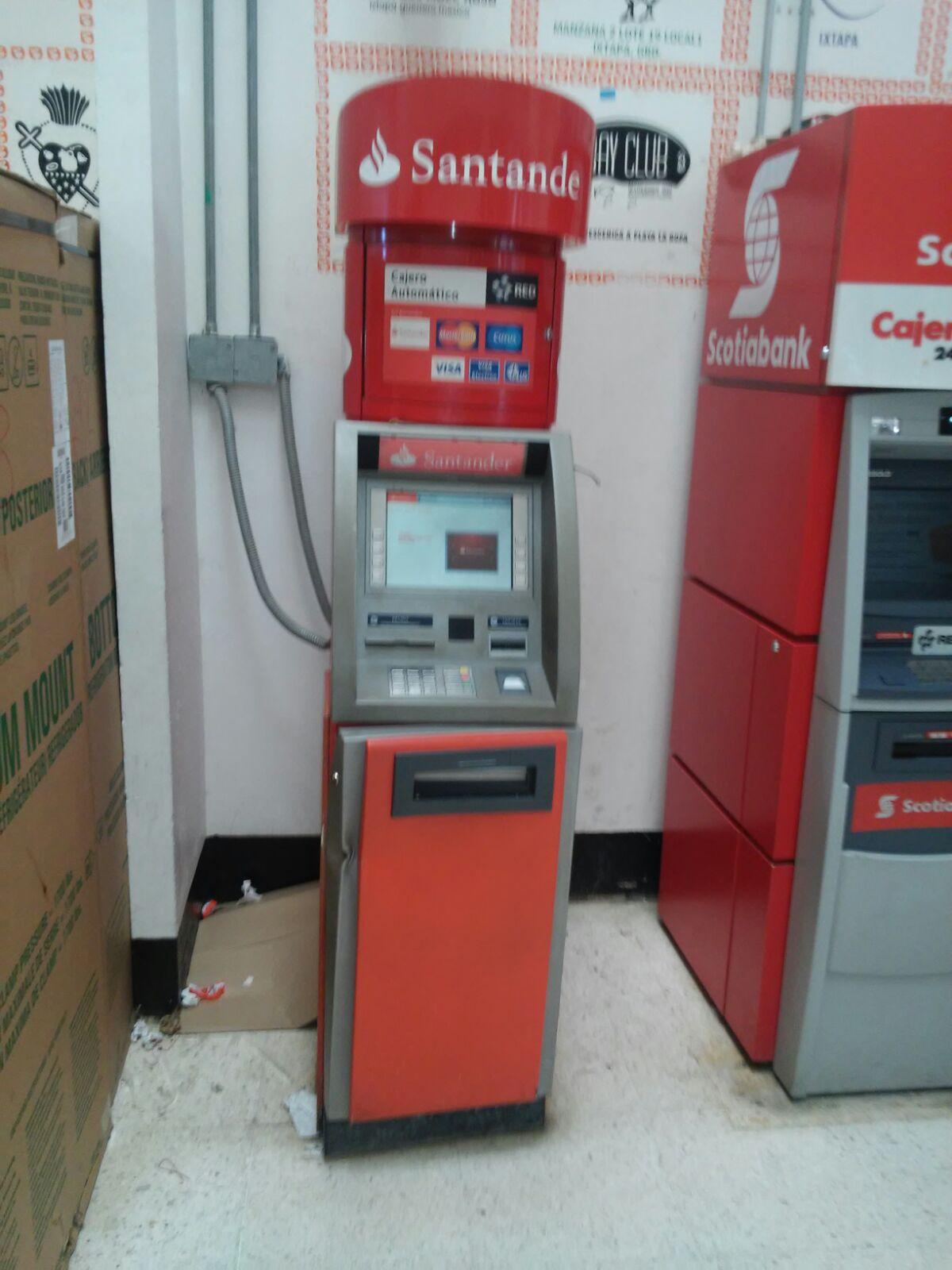 Diario de zihuatanejo el primer diario de la costa for Cajeros automaticos banco santander