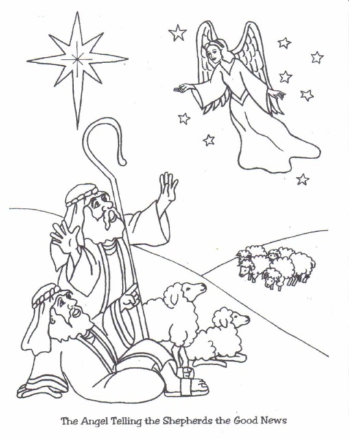 Cartoon Angels Singing Of Christ Lds Coloring Page