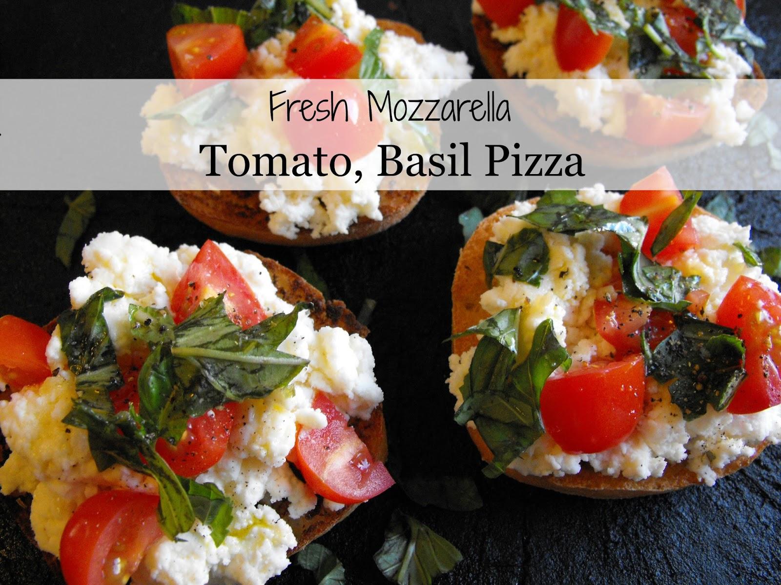 Smile for no reason: Fresh Mozzarella, Tomato, Basil Pizza