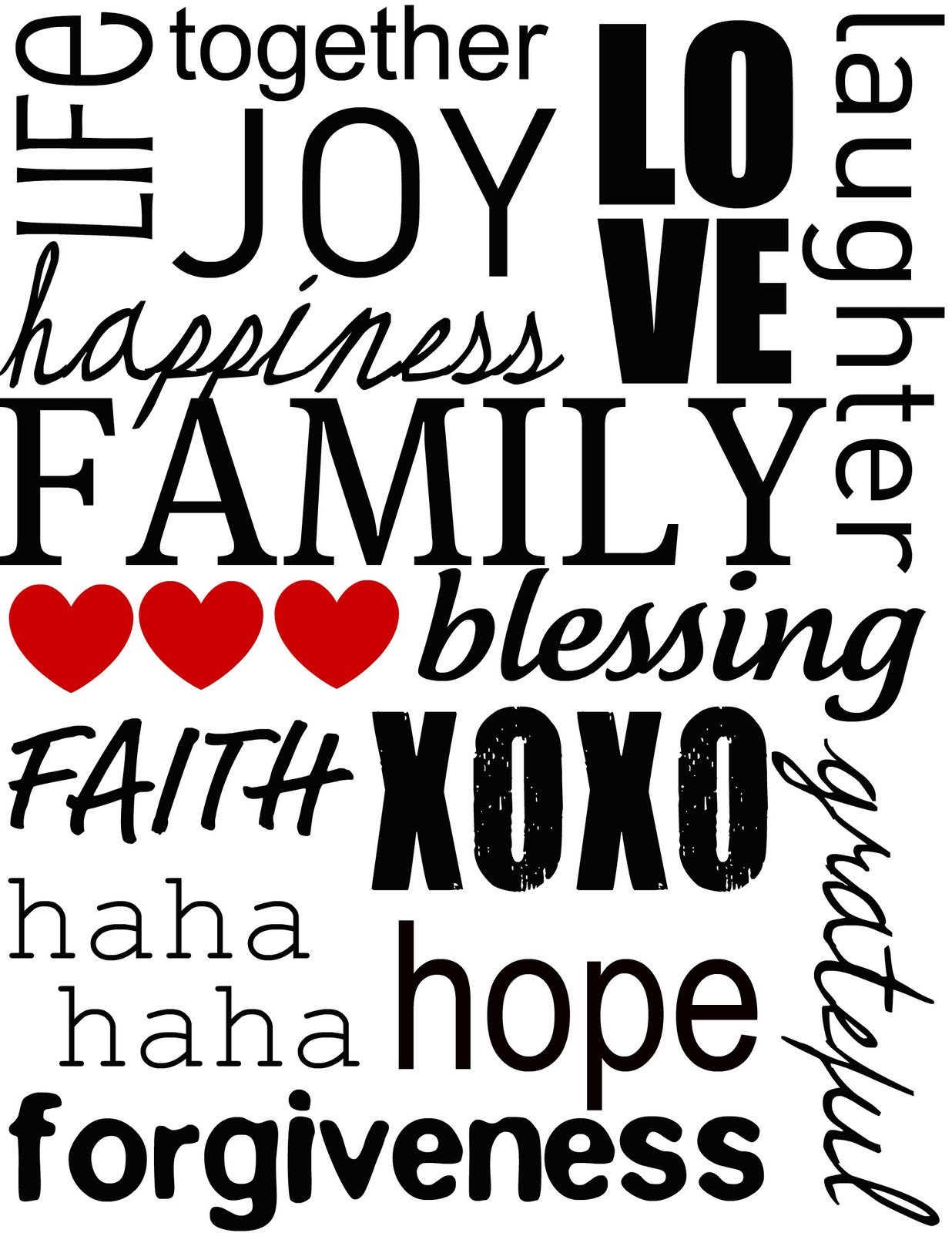 My own road printable family subway art i sat down and made a list of words that represented family to me then using picnik i then put together this simple family themed subway art printable solutioingenieria Image collections