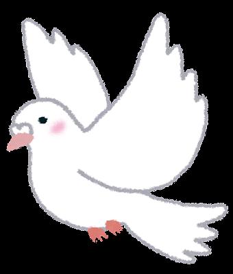 白い鳩のイラスト(鳥)