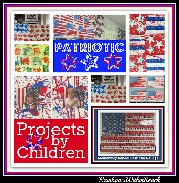 "photo of: Patriotic Projects for Preschool + Kindergarten Students in response to ""Red, White and Blue"" Picture Book"