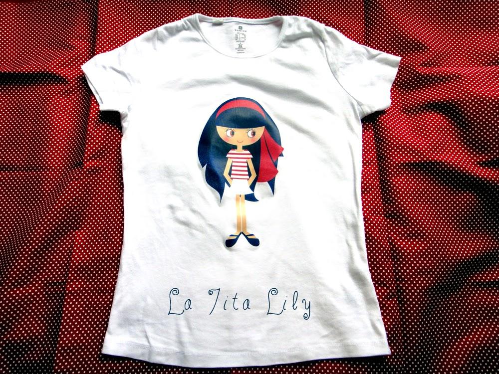 Camiseta muñeca marinera