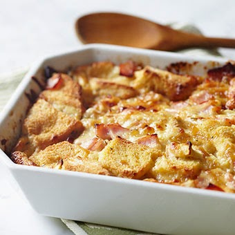 Breakfast Strata With Roasted Apple Grill Sauce