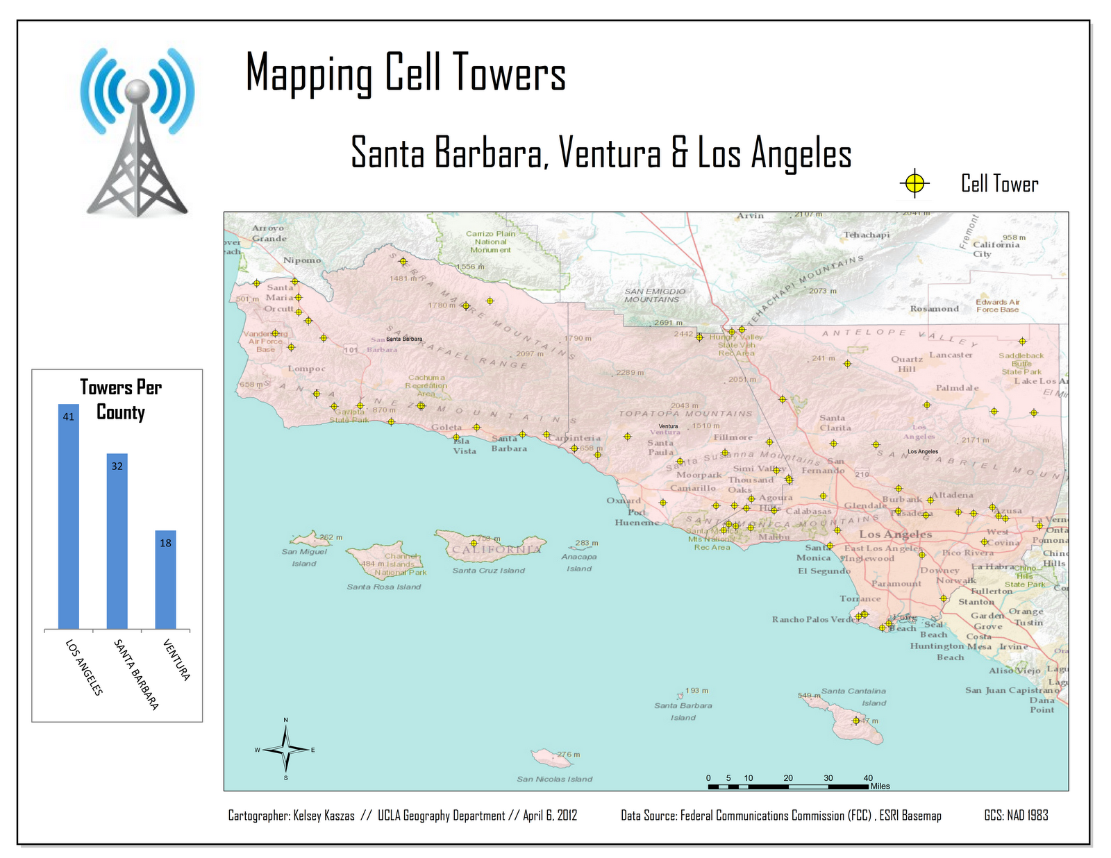 cellular coverage in los angeles county