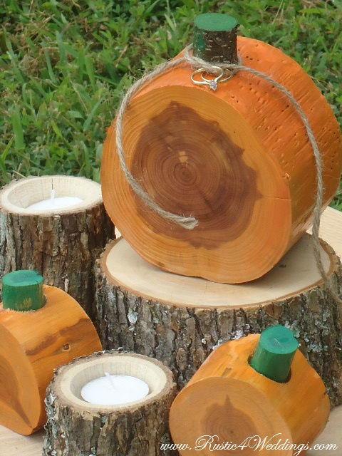 Rustic 4 Weddings Pumpkin Wedding Ring Holder For Fall Weddings