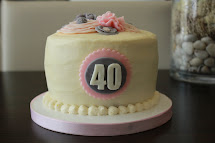 Simply Sweet 40th Birthday Cake