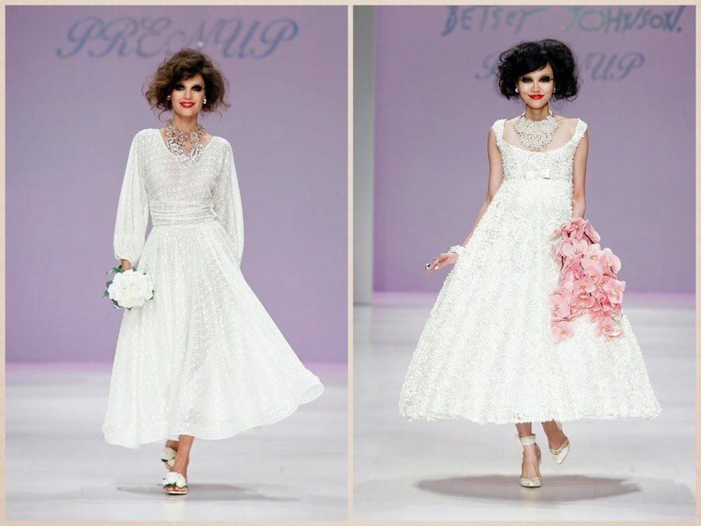 idee abiti sposa particolari, sfilata betsey johnson PE 2015, new york fashion week