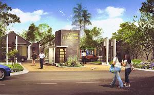 Gerbang depan Perumahan green Amani Residence