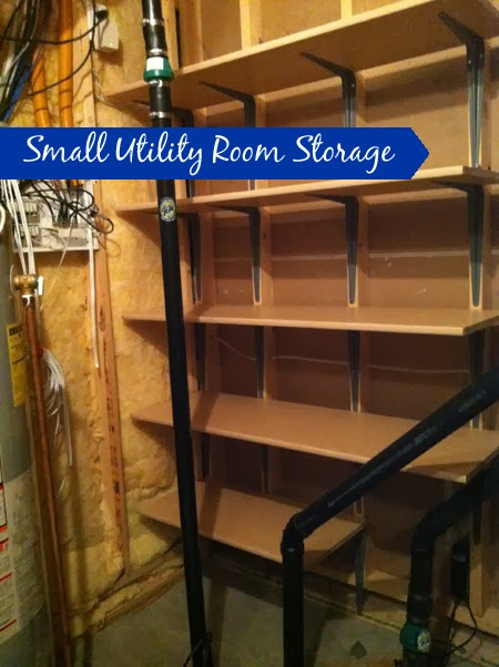diy with style making space for storage in a small utility room
