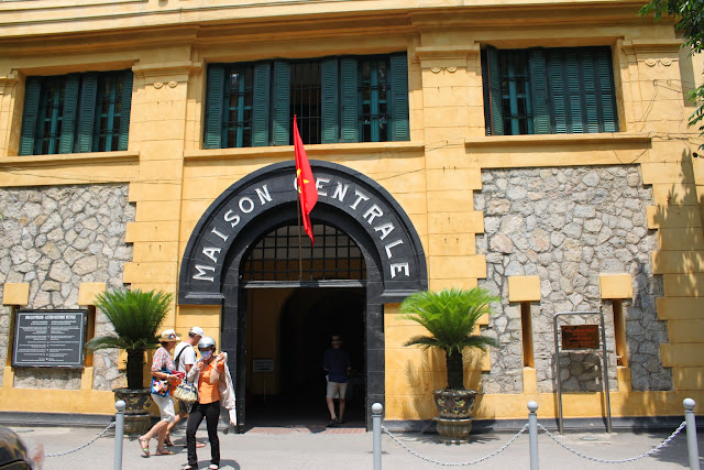 The main entrance of Maison Centre (Hoa Lu Prison) in Hanoi, Vietnam