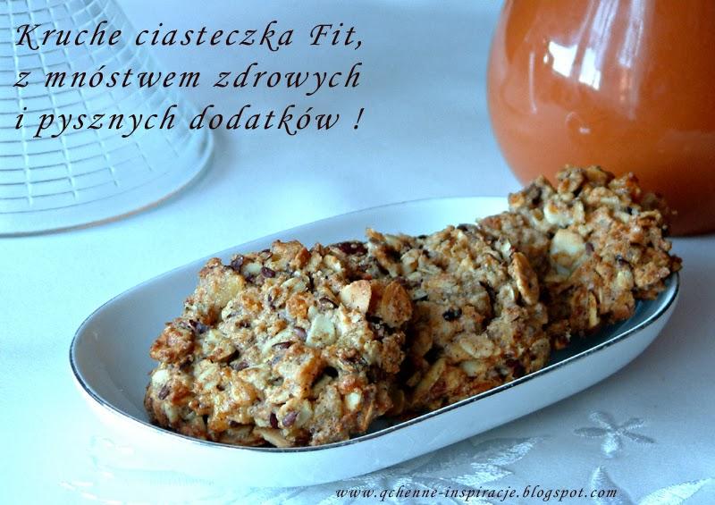 Kruche żytnie ciasteczka Fit z mnóstwem zdrowych i pysznych dodatków !