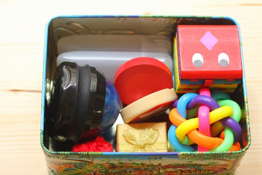 travel treasure basket for toddlers