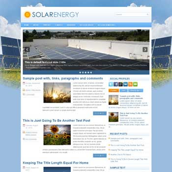 SolarEnergy blog template. magazine blogger template style. magazine style template blogspot