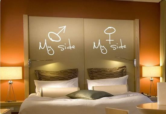 Pink leaf villa unique bedroom ideas design Cool wall signs