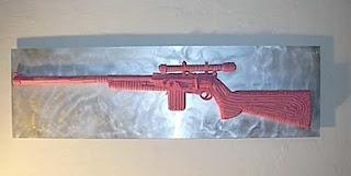gum sculpture rifle