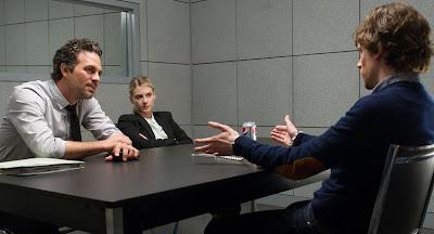 Mark Ruffalo (Dylan Rhodes), Mélanie Laurent (Alma Dray) y Jesse Eisenberg (J. Daniel Atlas)