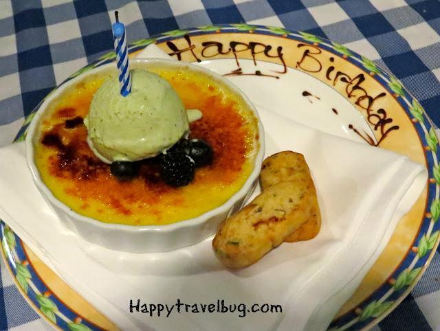 Birthday cream brulee