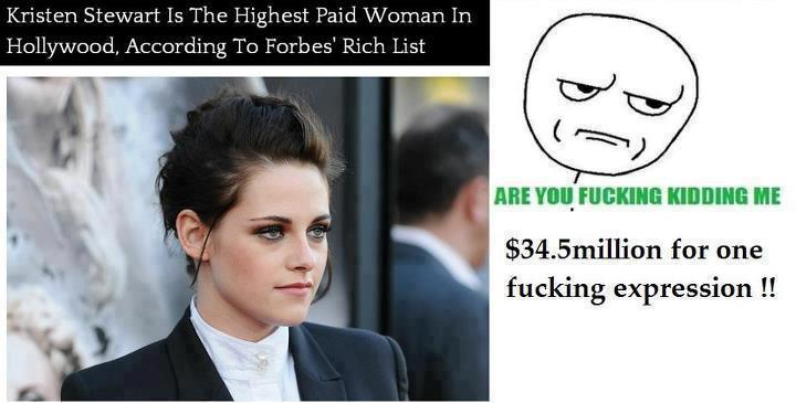 Kristen Stewart Highest Paid Woman In Hollywood
