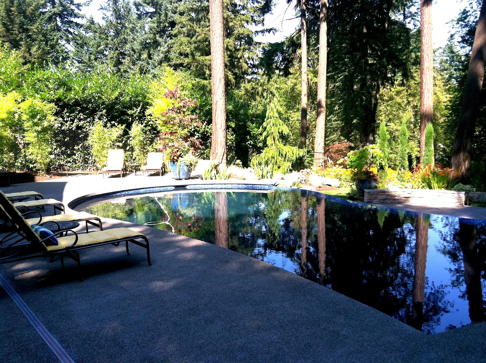 Portland Oregon Interior Design Blog Lake Oswego Swimming Pool Outdoor Kitchen And Living Room