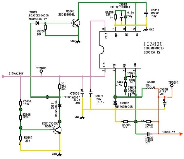 Hình 32 - Sơ đồ nguyên lý mạch hạ áp từ 24V xuống 3,3V