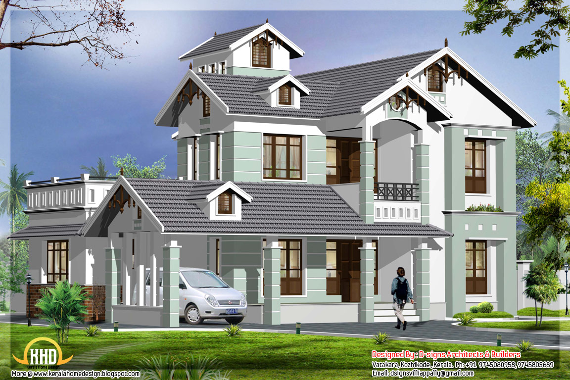 June 2012 kerala home design and floor plans for Best architecture home design in india