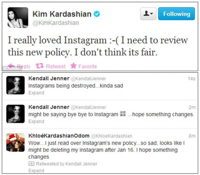 Tweeps Kim Kardashian, Kendall Jenner, Khloe Kardashian