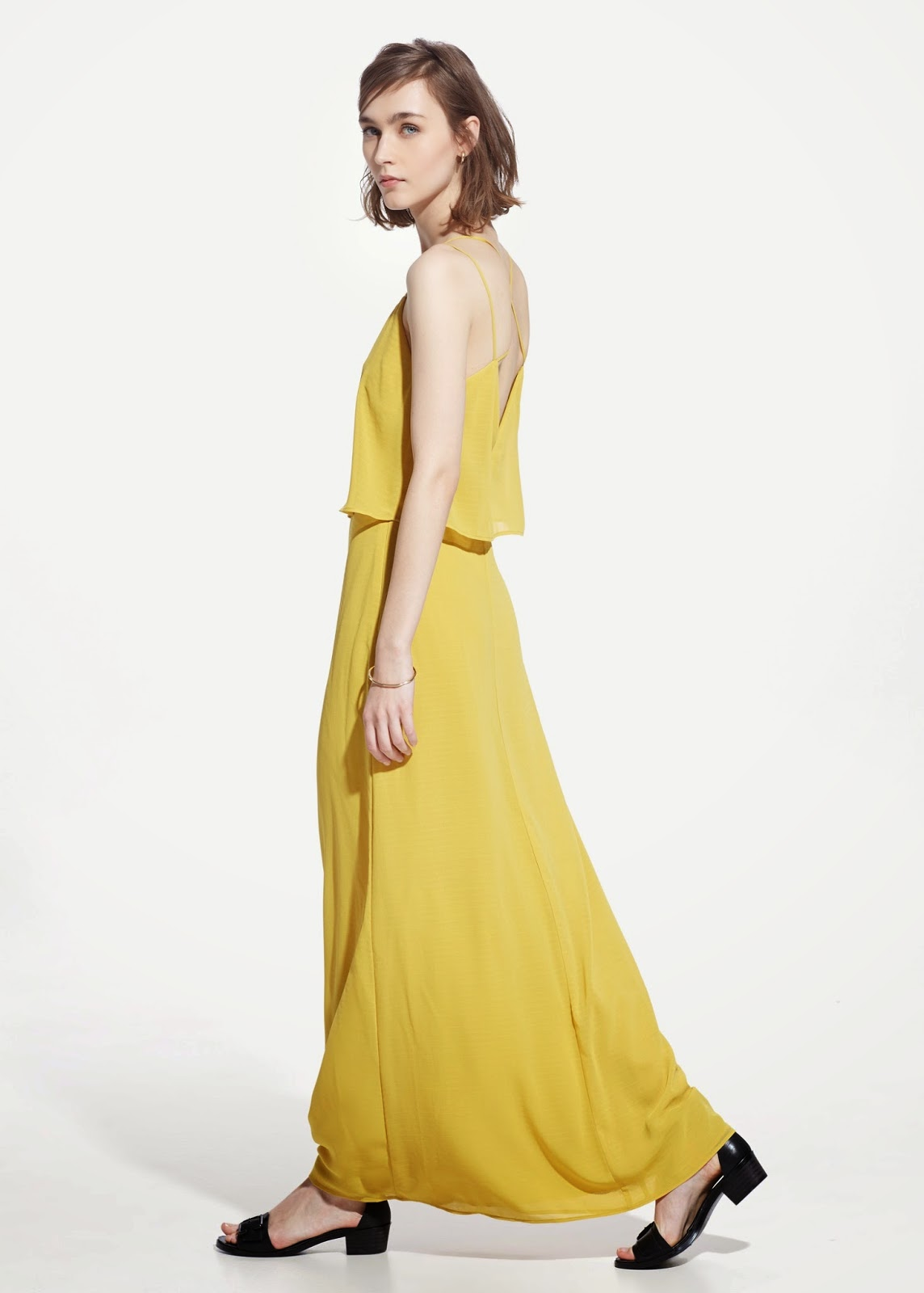 mango yellow maxi dress